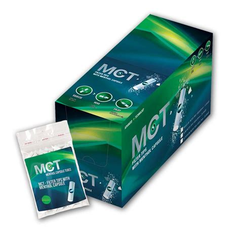 MCT Menthol Capsule Filter Tips CLICK-Filter mit