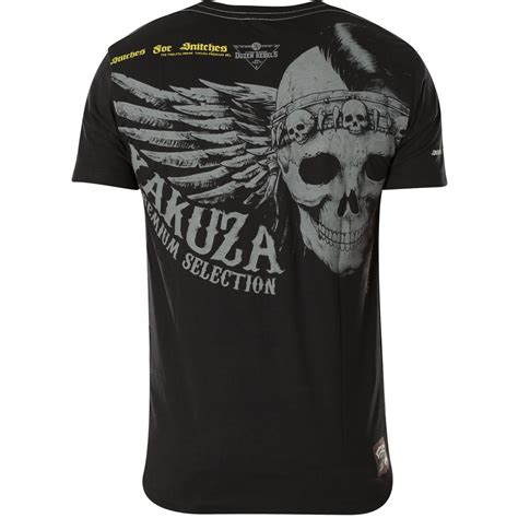 Yakuza Premium YPS-2407 in black featuring a skull and wing
