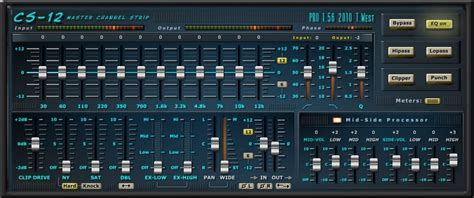 Download Free Mastering strip plug-in: CS-12 by Terry West