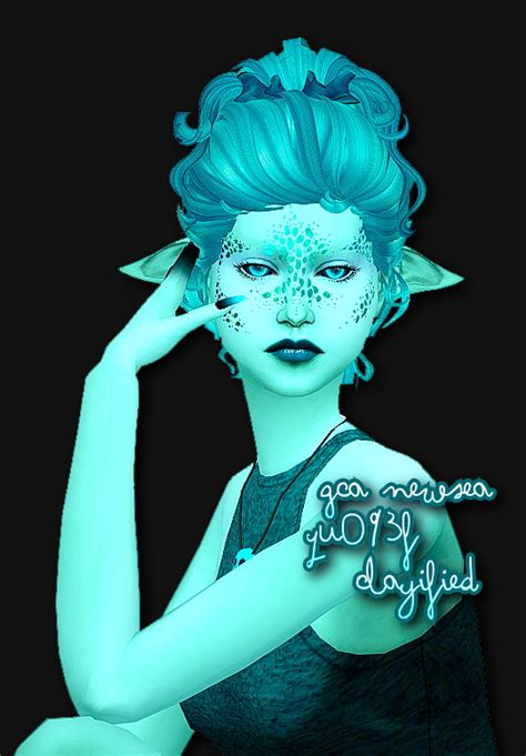 Sims 4 Hairs ~ Simsworkshop: NewSea`s YU093f Clayified