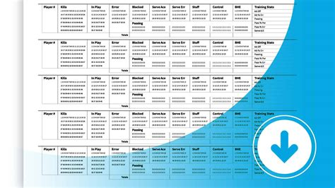Training stats recorder sheets | The Art of Coaching
