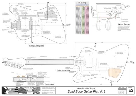 Solid Body Electric Guitar Plan #18: Electronic Version