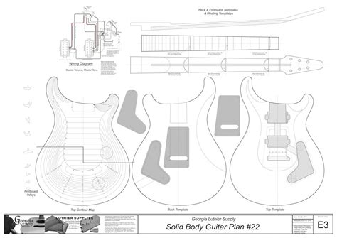 Solid Body Electric Guitar Plans #24: Electronic Version