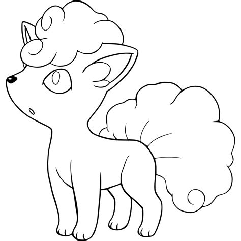 Vulpix Coloring Pages - GetColoringPages