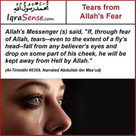 Tears and Crying from Fearing Allah – Prophet's Hadith