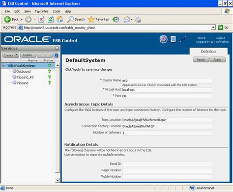 Oracle Application Server Adapter for Advanced Queuing