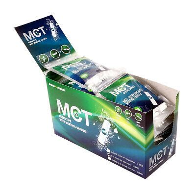 2 Display (40x) MCT Slim Cigarette Filter with Menthol