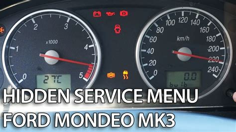 How to enter hidden menu in Ford Mondeo MK3 (service mode