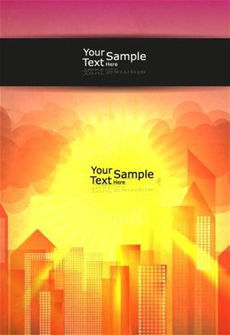 Free Vector Blank Brochure Cover Template with Sunrise 02