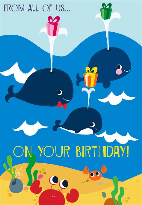 From All of Us - Birthday Card (Free) | Greetings Island