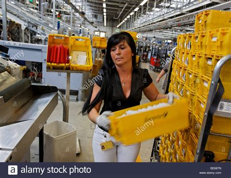 Nada Jumic works in the mail sorting center of the