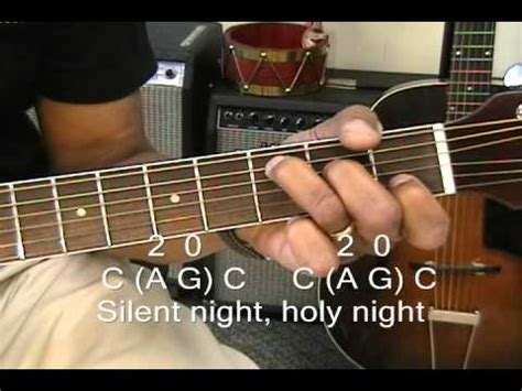 How To Play SILENT NIGHT On Guitar With 3 Chords / Chord