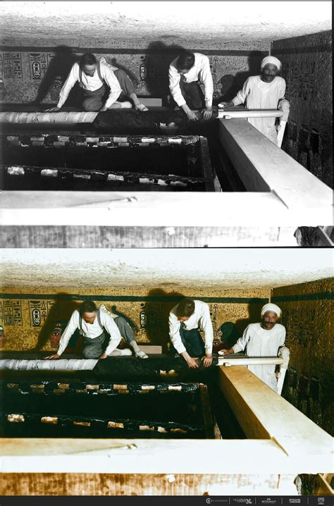 Color Photos Of The 1922 Discovery of Tutankhamun's Tomb