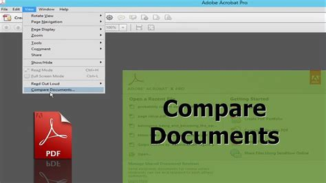 How to Compare PDF Document by using adobe acrobat pro