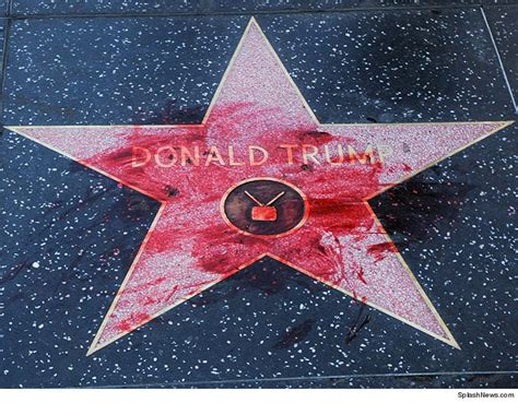 Donald Trump Star Defaced With Fake Blood | The Guardian
